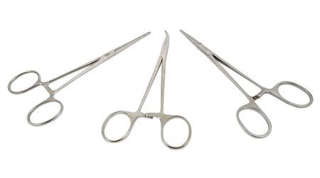 Medical syringes on a white background photo