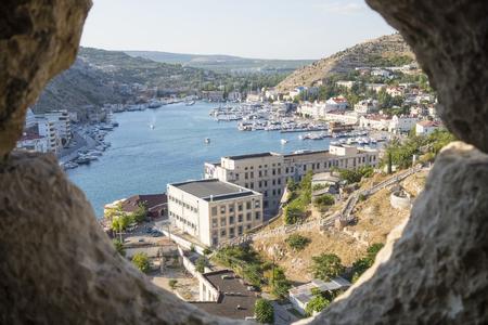 Balaklava town and Balaklava Bay, Crimea photo