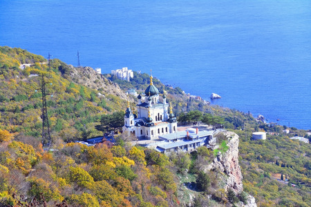 The Church of the Resurrection of Christ (Church On The Rock), Foros, Crimea.