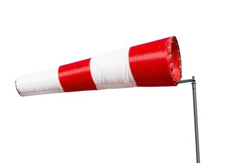 anemometer: wind sleeve flying on white background