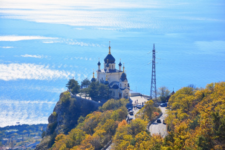 The Church of the Resurrection of Christ (Church On The Rock), Foros, Crimea.