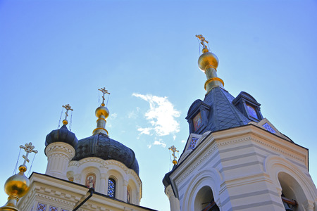 lacet: The Church of the Resurrection of Christ (Church On The Rock), Foros, Crimea Stock Photo