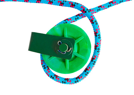 pulleys: two green Pulleys on white background