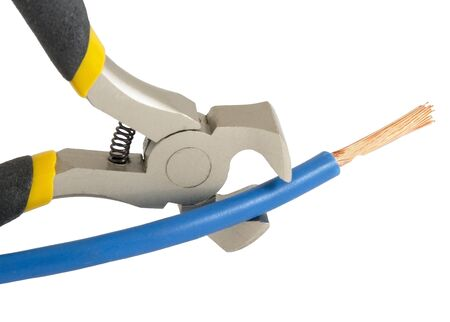 electrician tools: electrician tools group on white background