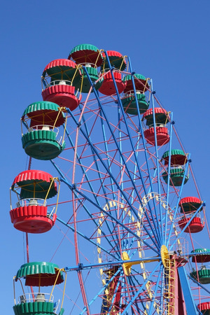 Ferris wheel in the summer morning 免版税图像