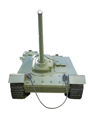 invincible: Soviet tank of period of the second world war on a white background Stock Photo