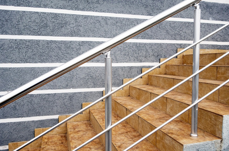 steel bar: Flight Of Stair Steps Outside A Building