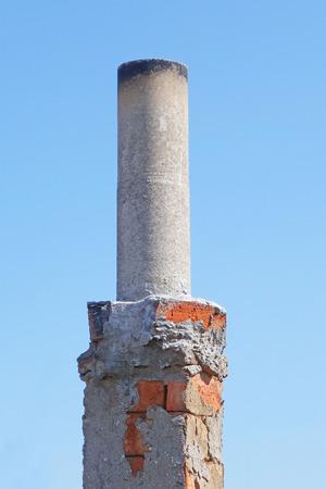 smokestack: brick smokestack isolated on white background Stock Photo