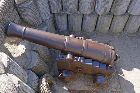 outpost: Old ship cannon on a coastal position