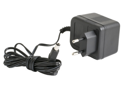 electrify: ACDC adapter  on white background. Stock Photo