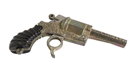 pellet gun: toy gun on the white background