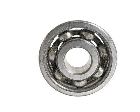 bearing: metallic bearing isolated over white background Stock Photo