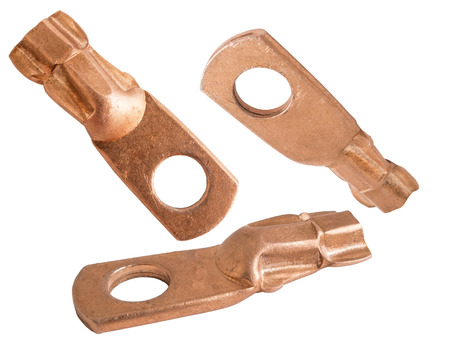 lineman: Copper electric terminals of different size