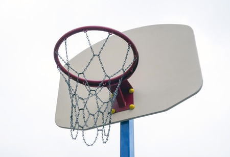 backboard: Basketball backboard isolated on white background Stock Photo
