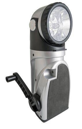 Modern electric torch on a white background Standard-Bild