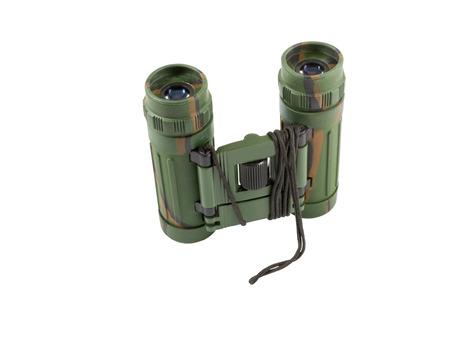 optics: Binocular with the clarified optics, isolated image Stock Photo