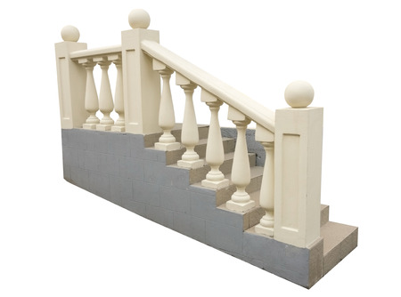 rungs: Flight Of Stair Steps Outside A Building