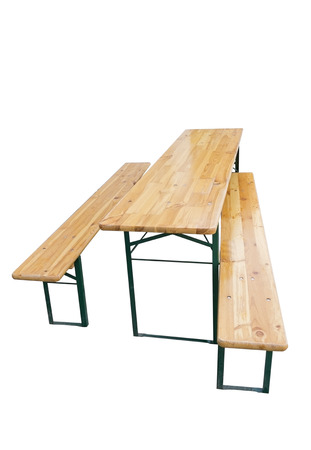Picknick bench and table, isolated on a white background Banque d'images