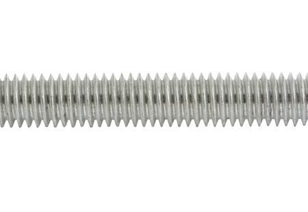 the threaded rod on a white background Standard-Bild