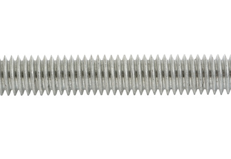 the threaded rod on a white background Banque d'images