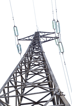 electrical tower: Electrical tower on white background