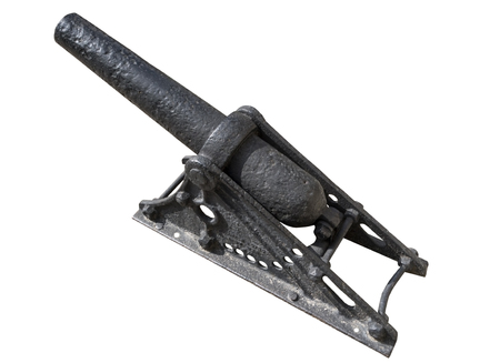 deck cannon: Little cannon, made in Russia at the beginning of 20 century Stock Photo