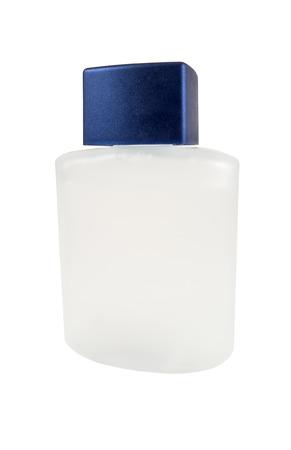 gauzy: perfume bottle on white background