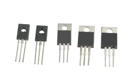 triode: power transistors on a white background