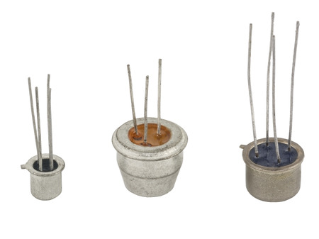 the different transistors on a white background