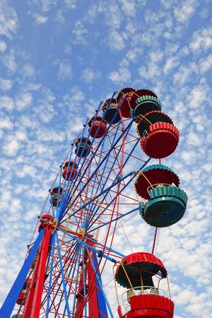 big wheel: Big wheel in the summer morning