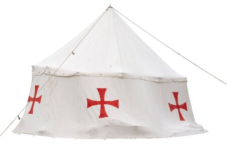 crusaders: the tent of the crusaders on white background