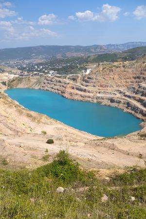 dragline: Open pit mine in Balaklava near Sevastopol city Stock Photo