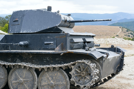 ww2: The model of old German tank WW2 Stock Photo