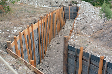 trenches: Reconstructed trenches at the historic festival in Sevastopol