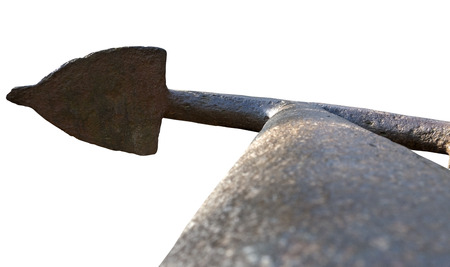convoy: Old Anchor on a white background Stock Photo