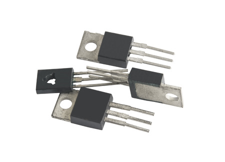 microcircuit: different microcircuit on a white background