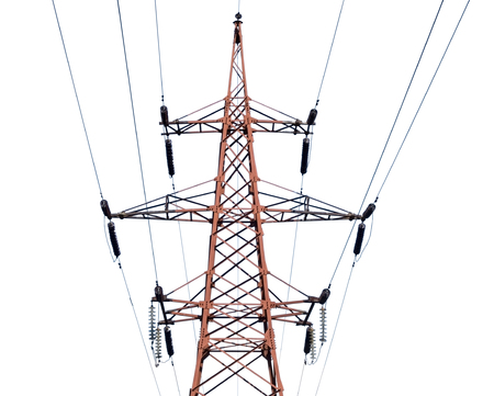 electrical tower: big Electrical tower on a white background
