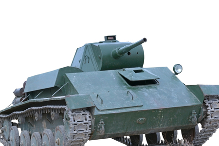 invincible: Soviet tank of period of the second world waron white background