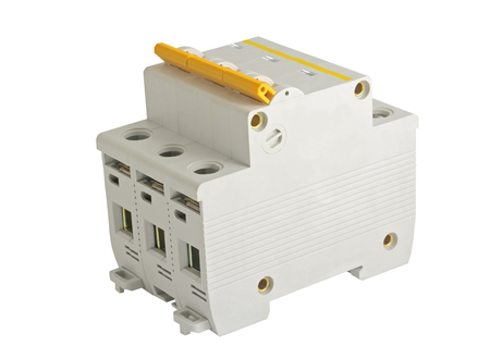 breaker: Circuit breaker, isolated on a white background Stock Photo