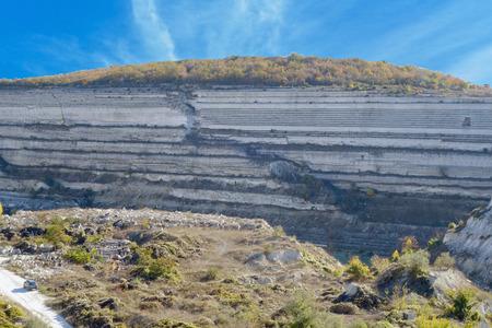 dragline: Open pit mine near Sevastopol city