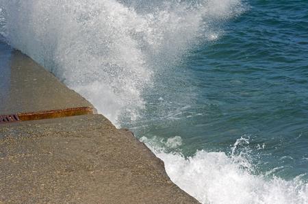 wavely: storm on sea near the city of Sevastopol