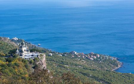 Foros church on mountain in Crimea