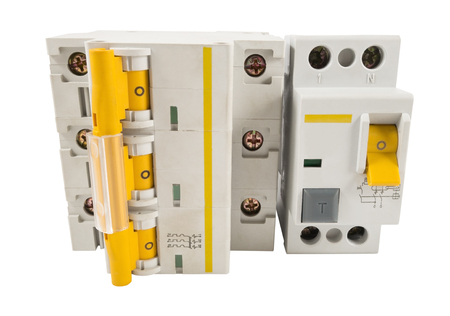 breaker: Automatic circuit breaker, isolated on a white background