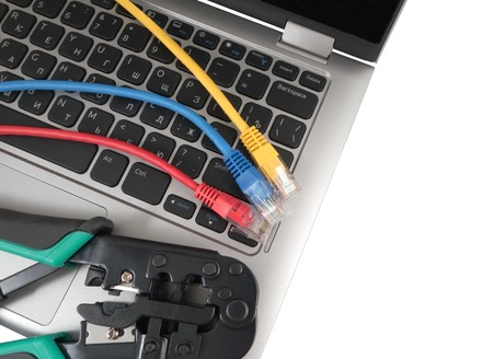 ethernet cable: Part of keyboard of notebook and Network Ethernet Cable