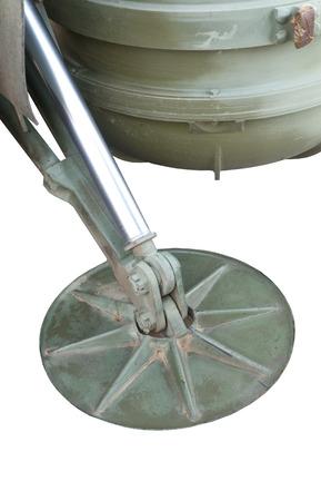 metal base: a metal base plate on white background