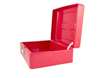 red metallic: red metallic box on a white background