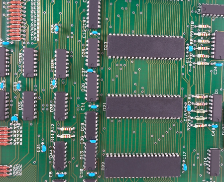 ide: Closeup of electronic circuit board