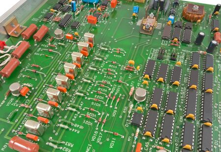 semi conductor: the Closeup of electronic circuit board