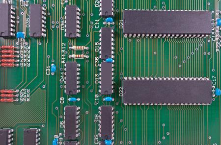 Closeup of electronic circuit board