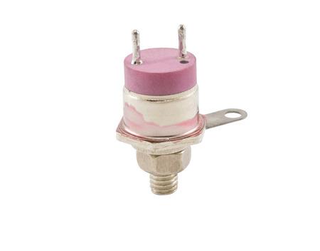 transistor: el transistor sobre un fondo blanco